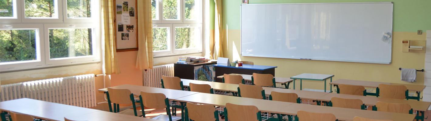 Příjemné prostředí učeben